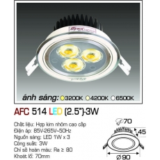 Đèn downlight led AFC 514 LED 3W