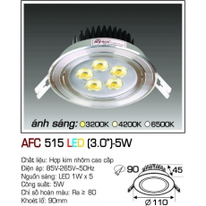 Đèn downlight led AFC 515 LED 5W