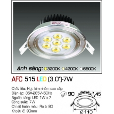 Đèn downlight led AFC 515 LED 7W