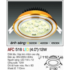 Đèn downlight led AFC 516 LED 12W