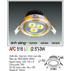Đèn downlight led AFC 516 LED 3W