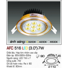 Đèn downlight led AFC 516 LED 7W