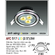 Đèn downlight led AFC 517 LED 3W