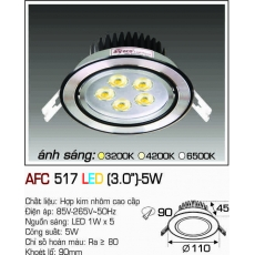 Đèn downlight led AFC 517 LED 5W
