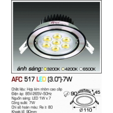 Đèn downlight led AFC 517 LED 7W