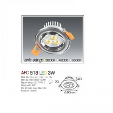 Đèn downlight led AFC 518 3W
