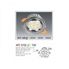Đèn downlight led AFC 518 7W