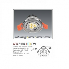 Đèn downlight led AFC 518A 3W
