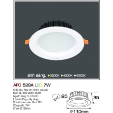 Đèn downlight led AFC 528A 7W