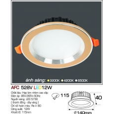 Đèn downlight led AFC 528V 12W