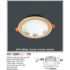 Đèn downlight led AFC 528V 7W