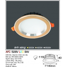 Đèn downlight led AFC 528V 9W