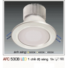 Đèn downlight led AFC 530B 12W 1C