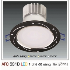 Đèn downlight led AFC 531D 12W 1C