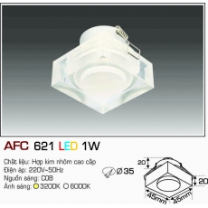 Đèn downlight led AFC 621 LED 1W
