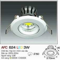 Đèn downlight led AFC 624 LED 3W
