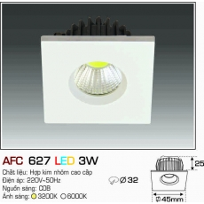 Đèn downlight led AFC 627 LED 3W