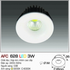 Đèn downlight led AFC 628 LED 3W