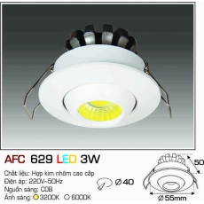 Đèn downlight led AFC 629 LED 3W