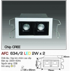 Đèn downlight led AFC 634/2 LED 2W x2