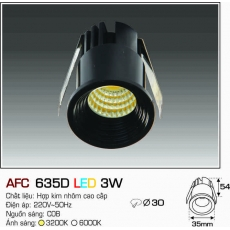 Đèn downlight led AFC 635D LED 3W