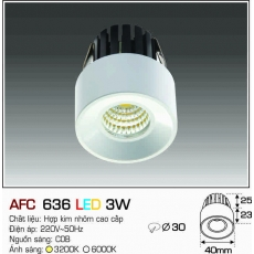 Đèn downlight led AFC 636 LED 3W