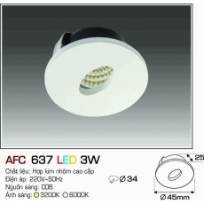 Đèn downlight led AFC 637 LED 3W
