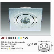 Đèn downlight led AFC 660B LED 1W