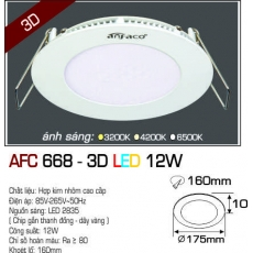 Đèn downlight led AFC 668 3D 12W