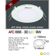 Đèn downlight led AFC 668 3D 9W
