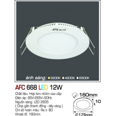 Đèn downlight led AFC 668 LED 12W