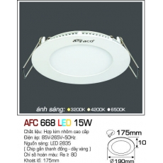 Đèn downlight led AFC 668 LED 15W