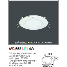 Đèn downlight led AFC 668 LED 4W