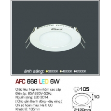 Đèn downlight led AFC 668 LED 6W