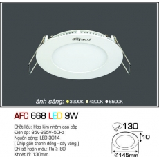 Đèn downlight led AFC 668 LED 9W