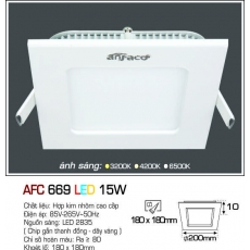 Đèn downlight led AFC 669 LED 15W 1C