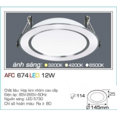 Đèn downlight led AFC 674 12W 1C