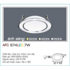 Đèn downlight led AFC 674 7W 1C