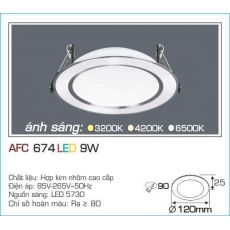 Đèn downlight led AFC 674 9W 1C