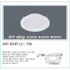 Đèn downlight led AFC 674T 7W 1C