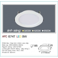 Đèn downlight led AFC 674T 9W 1C