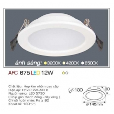 Đèn downlight led AFC 675 12W 1C