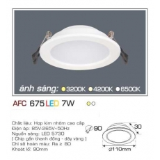Đèn downlight led AFC 675 7W 1C