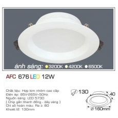 Đèn downlight led AFC 676 12W 1C