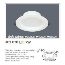 Đèn downlight led AFC 676 7W 1C