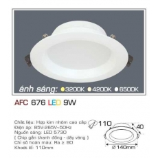 Đèn downlight led AFC 676 9W 1C
