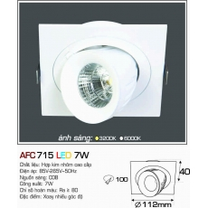 Đèn downlight led AFC 715 7W