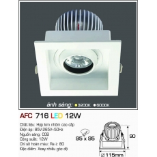 Đèn downlight led AFC 716 12W