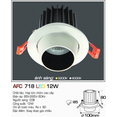 Đèn downlight led AFC 718 12W