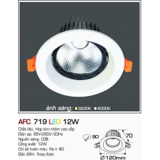 Đèn downlight led AFC 719 12W